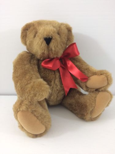 Teddy Bear Vermont Company Plush Stuffed Animal Jointed Brown 15