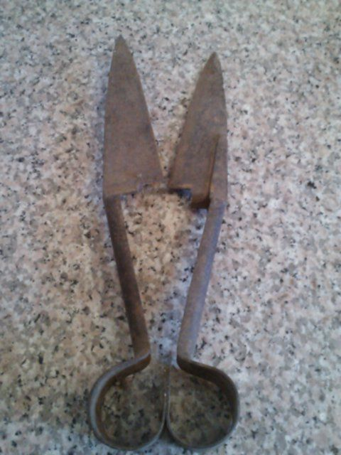 Vintage Sheep Shears Pair Rusty Decor Manual Vintage Tools Shop Decoration