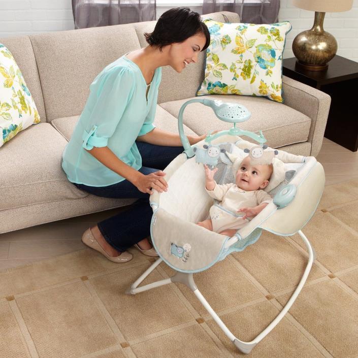Rock N Play Sleeper Auto Rocker Baby Infant Newborn Lullaby Lamb Crib Bassinet