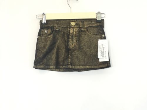 GUESS Toddler Gold Foil Jeans Skirt Size 5 NWT