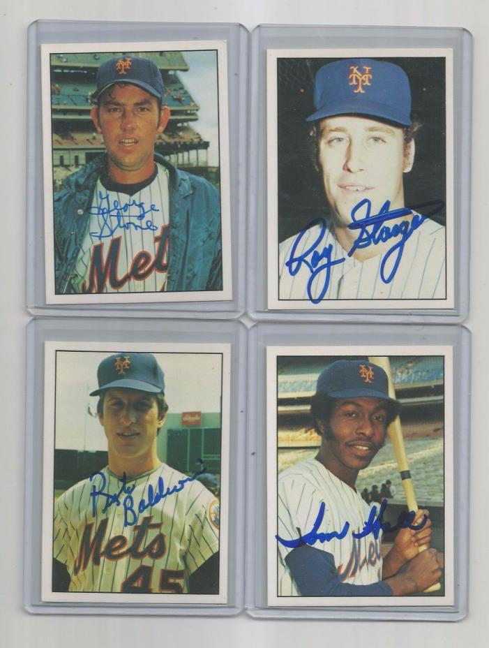 1975 SSPC ny METS TEAM auto SIGNED set/card #45 rick BALDWIN 2016 TOPPS--BOWMAN