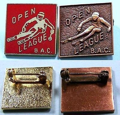 2 SKI Pins - BAC Open League Racing Pins