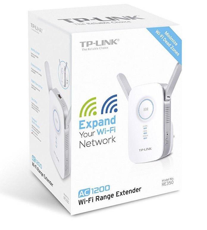 Genuine TP-Link RE350 AC1200 Wi-Fi Range Extender Brand New Sealed