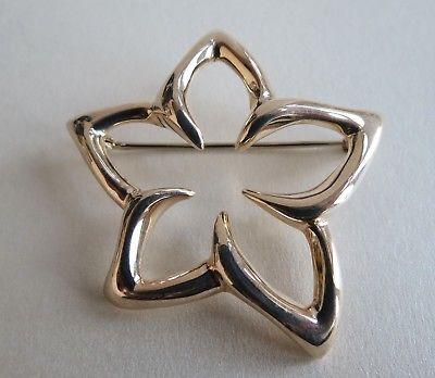 Tiffany 1996 sterling silver, Star, Starfish, Plumeria, flower 1.5