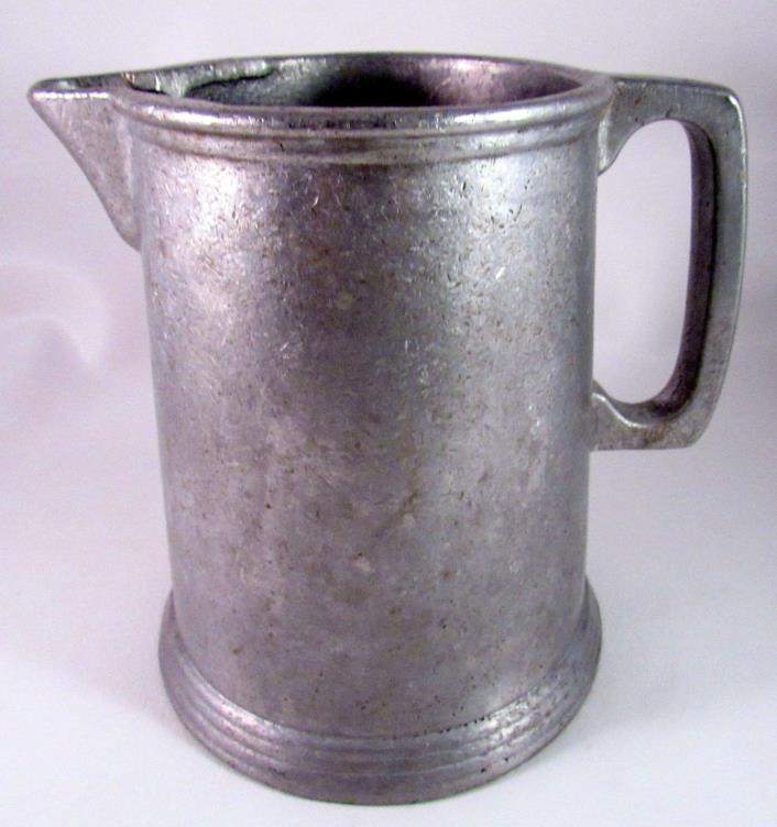Vintage Water/Milk/Coffee Pitcher Heavy Cast Aluminum Weighs 3 LBS Holds 7 Cups