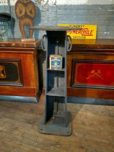 Cast Iron Shelf Pedestal Industrial Study Base Bar Table Office Decor Machinist