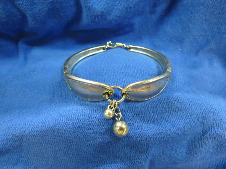 Vintage Spoon Bracelet by White Orchid, Fine Silver Plate