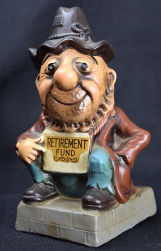 """Vintage Collectible Coin Bank Beggar Hobo Retirement Fund 7"""""""