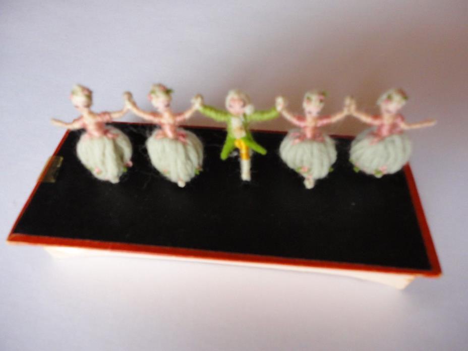 Yarn Doll Dancing Chorus Vintage French Dancers