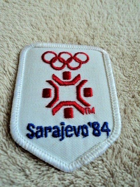 Vintage Sarejevo 1984 Winter Olympics Ski Patch Mint