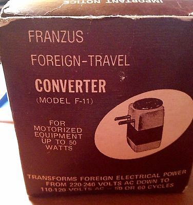 Vintage Franzus Foreign-Travel Converter Model F-11 With Box and Travel Case