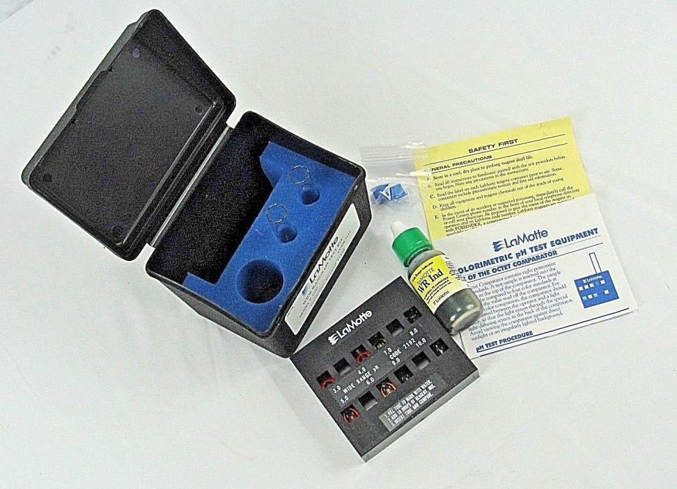 LaMotte Colorimetric pH Water Testing Kit, Model P-3100, Range 3.0 to 10, New