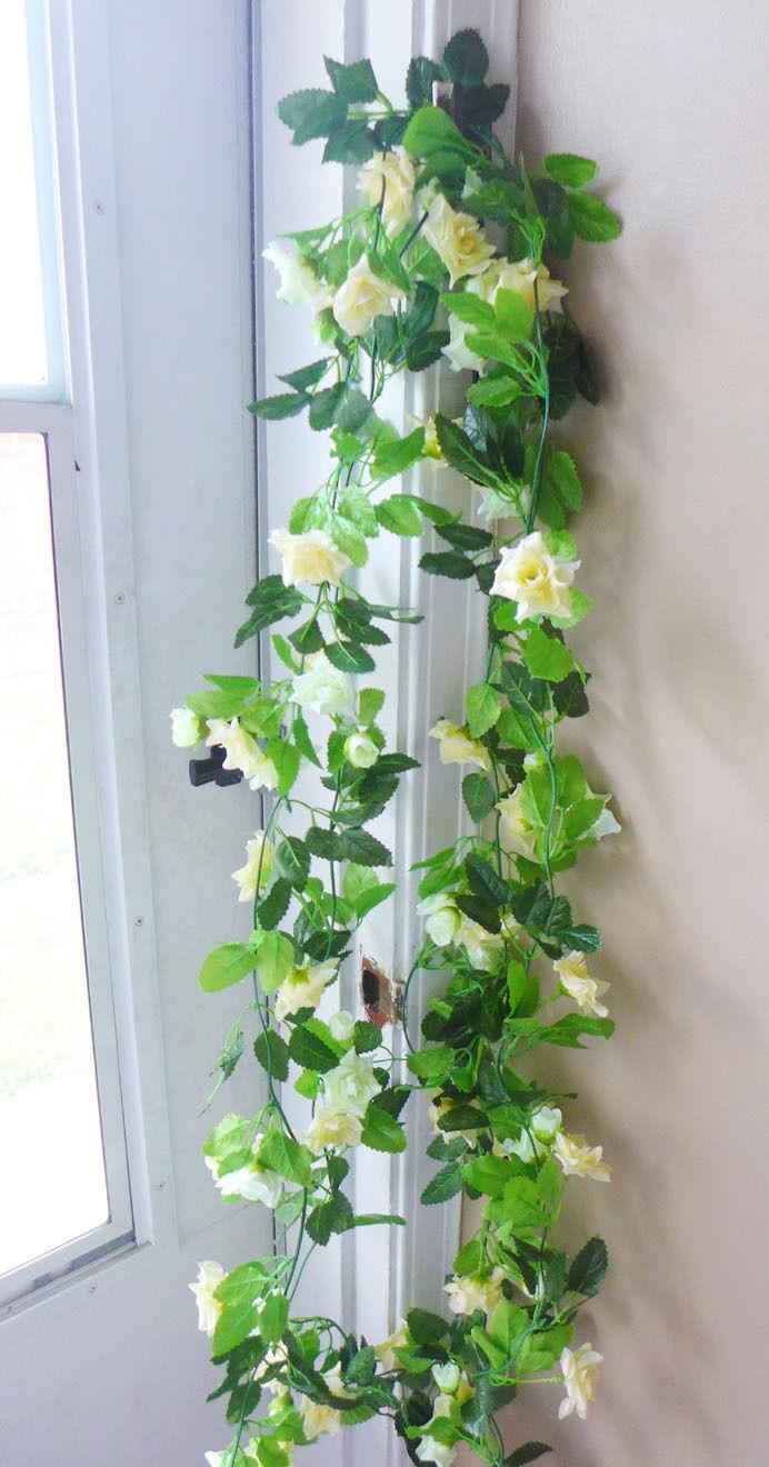 Set of 2 Rose Flower Vines Artificial Hanging Home Wedding Garland