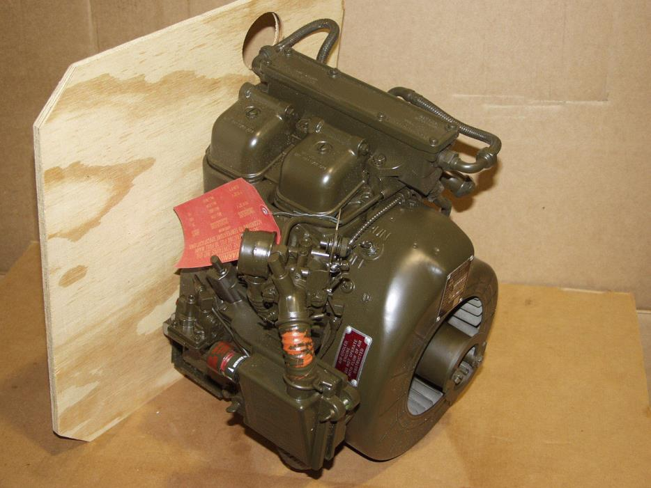 Military Surplus Gas Engine-NEW-Teledyne Wisconsin 2-Cyl 3HP 2A016-III 16 C.I.D.