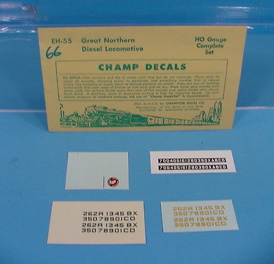 B66 HO SCALE CHAMP DECALS EH-55 GREAT NORTHERN DIESEL LOCOMOTIVE