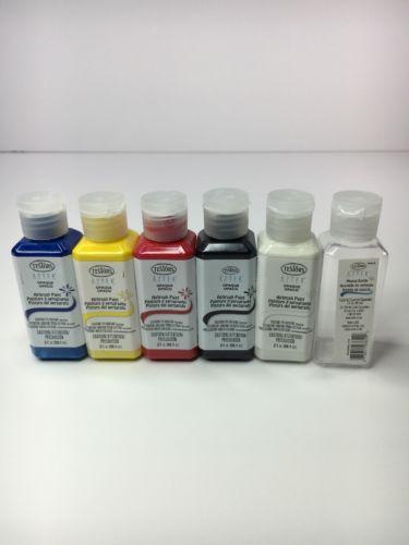NEW 5 Color Testors Aztek Opaque Acrylic Airbrush Paint Set - 299047 -02D500