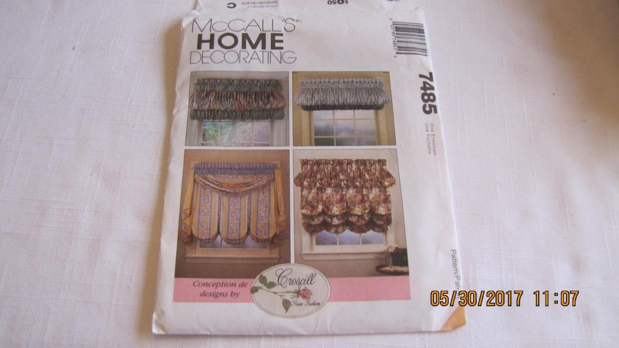 McCall's Pattern 7485 - Home Decorating