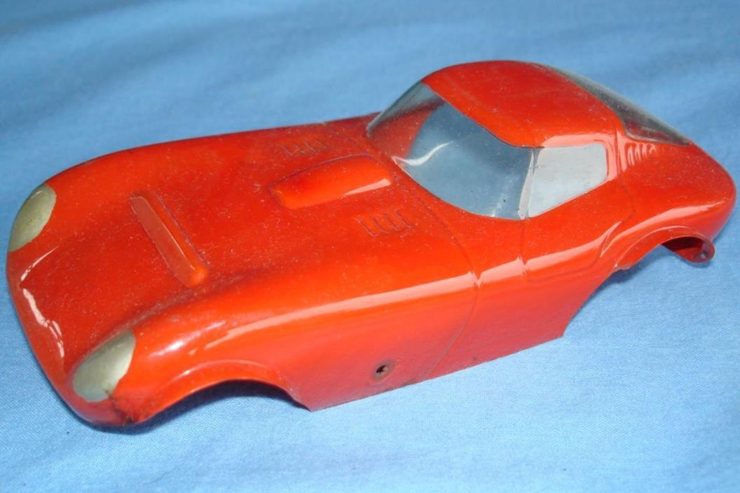 UNKNOWN VINTAGE 1:24 SCALE SLOT CAR RACING PAINTED CLEAR BODY CHEETAH RUNNER