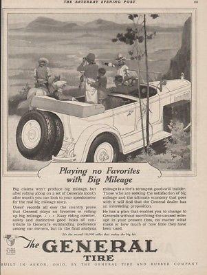 1926 General Tire & Rubber Co Akron Ohio-Cowboys -Fred Mizen Motor Car Art Ad