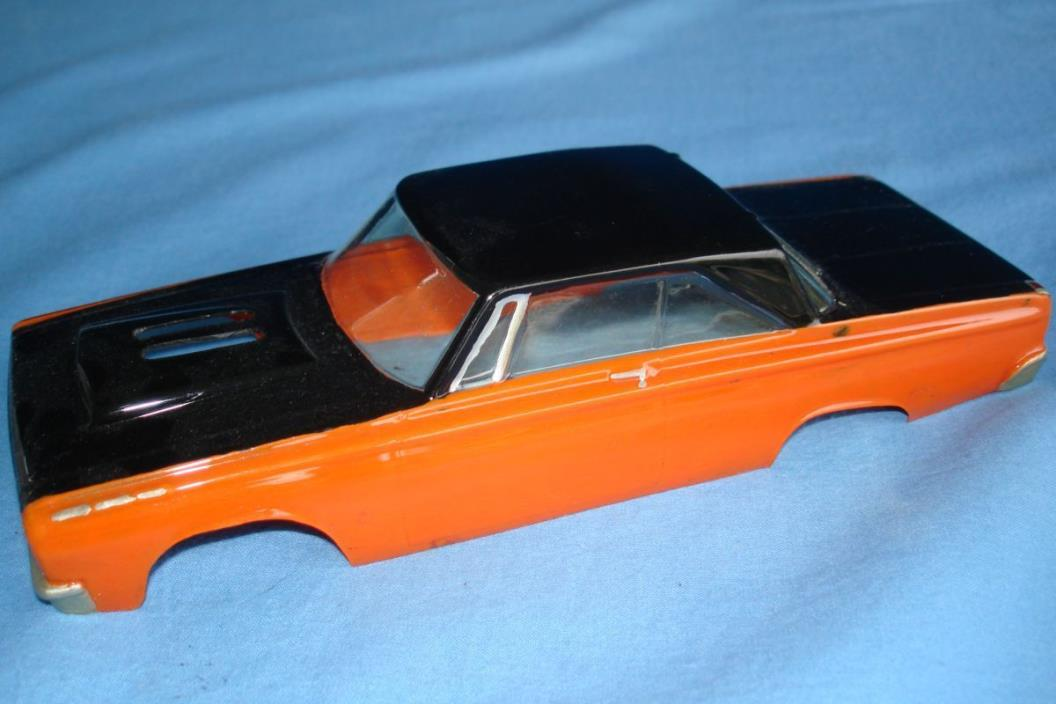 UNKNOWN VINTAGE 1:24 SCALE SLOT CAR RACING PAINTED CLEAR BODY PLYMOUTH RUNNER