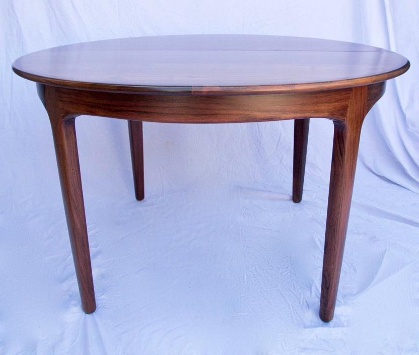 Danish Modern Round Rosewood Extension Dining Table by Soro Stole