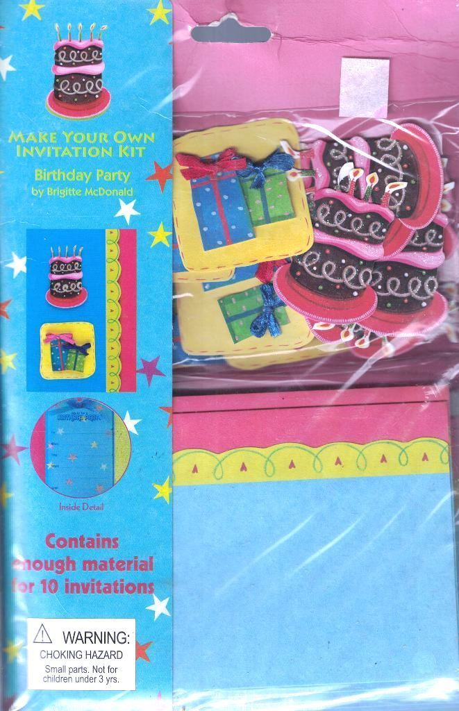 Make Your Own Invitation Kit BIRTHDAY PARTY Makes 10 Invitations by Paper Magic