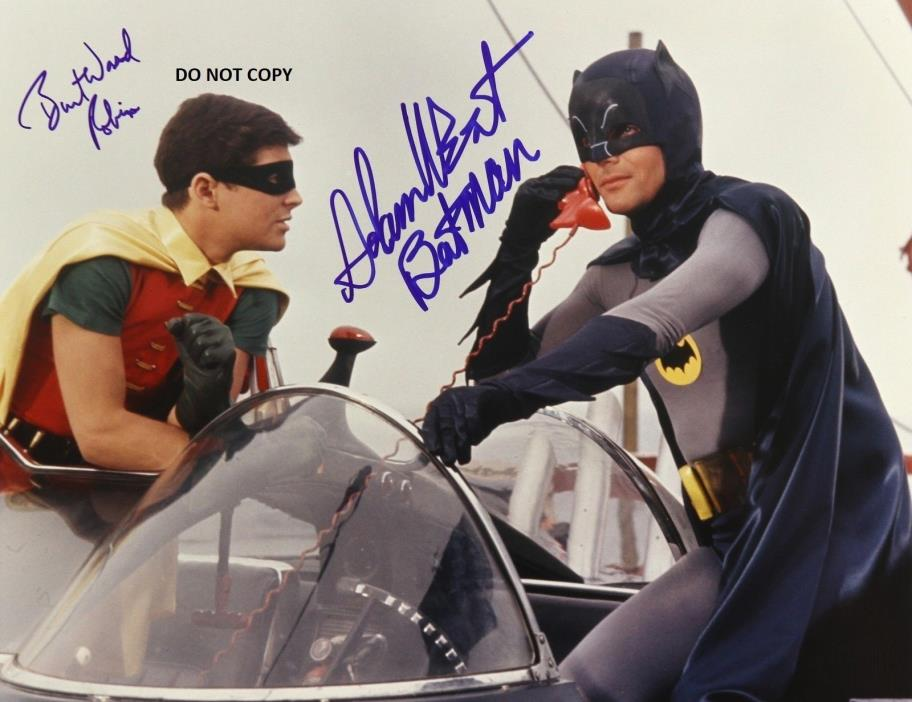 BURT WARD ADAM WEST 8X10 AUTHENTIC IN PERSON SIGNED AUTOGRAPH REPRINT PHOTO RP