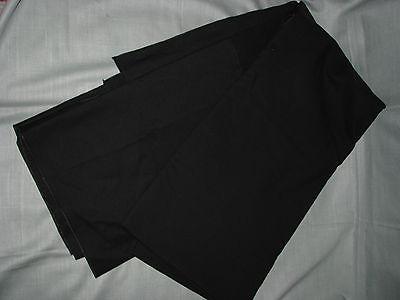 Black Heavy Cotton Banquet TableCloth Fabric 92