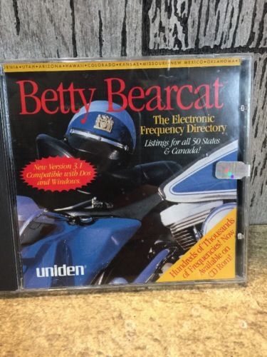 Betty Bearcat Electronic Frequency Directory CD-rom 1997 Uniden