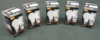 Lot of 10 Philips 25 Watt Rough Service Light Bulb  E27 ES 230-250V A60