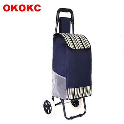 OKOKC Shopping Luggage Cart Folding Hand Carts Trolley Cart 2 Wheel Shopping Tra