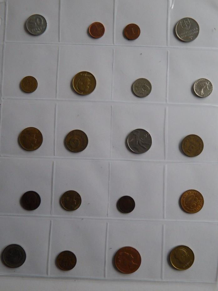 World Coin Collection of 20 Different Coins  418