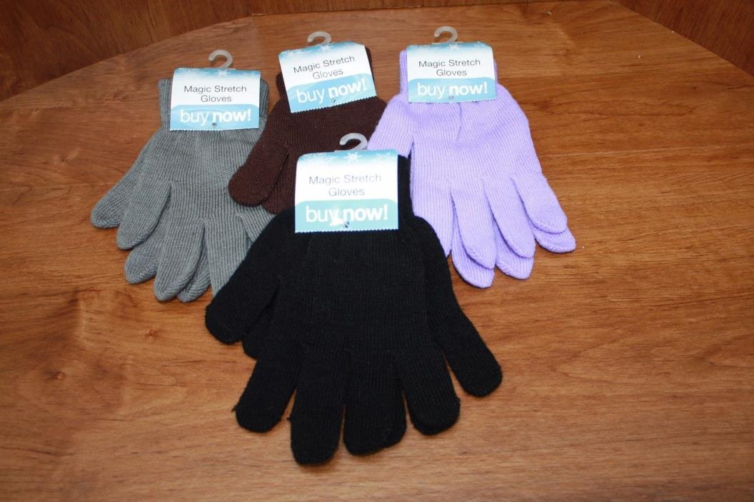 Magic Stretch Gloves 2-Pair One Size Fits Most Unisex