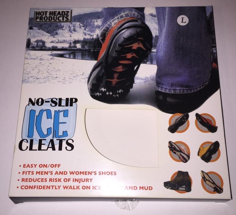 Hot Headz No Slip Ice Cleats Size Large Fits Men/Women