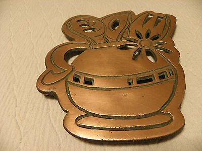 Copper utensil holder trivet