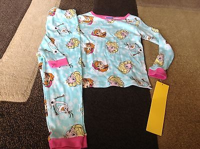 Toddler girls Disney Frozen snug fit multi color pjs size 4T(NWT)