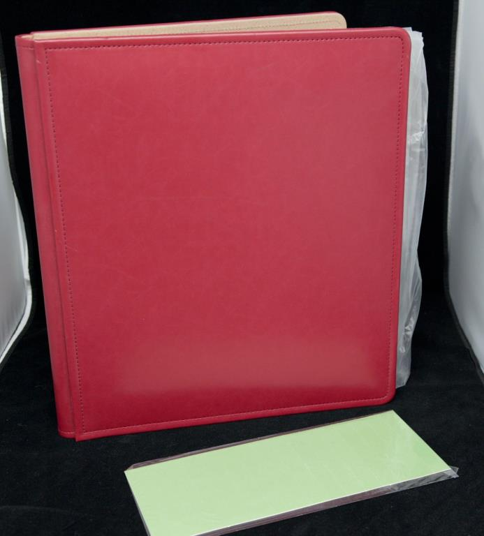 Creative Memories 14 x 12.5  Album Red w16 Dbl Pgs Unused Light Shelf Wear Cover