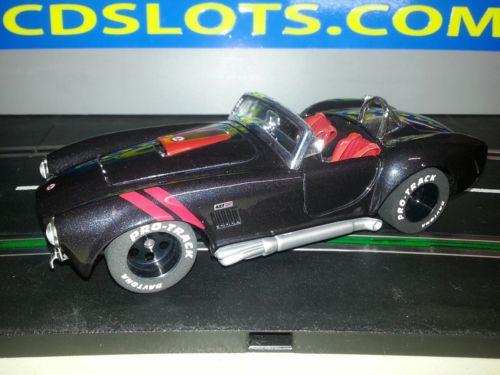 Slot car 1/24 Shelby Cobra 427 S/C   1965 with Black wheels ,sidewinder