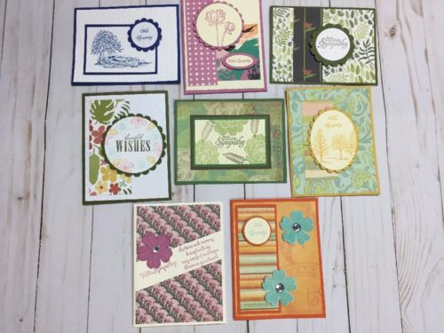 8  Handmade Sympathy Cards With Envelopes