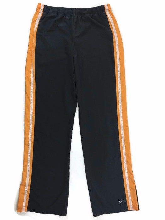 NIKE  Polyester Track Pants Sz M (8-10) RN 56323 Running Athletic Grey Orange