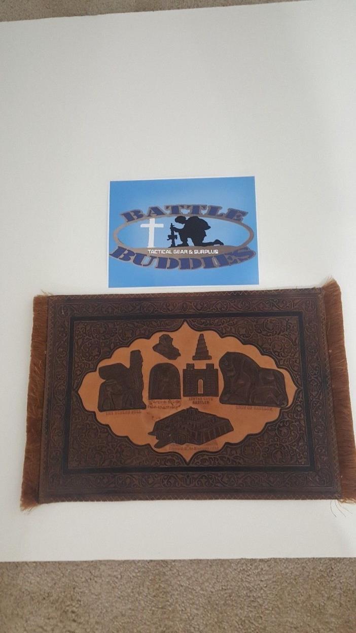Operation Iraqi Freedom Prayer Rug Leather Souvenir 21