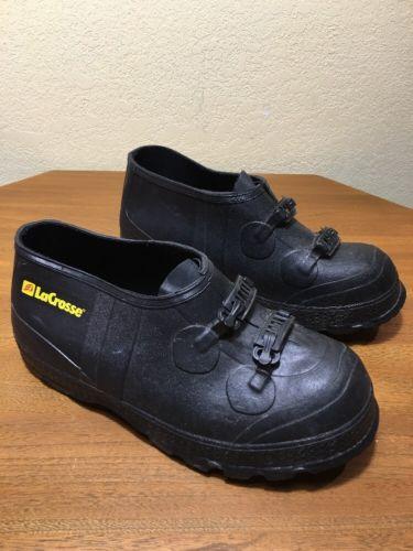 Lacrosse Buckle Overshoe Men US 8 Black Rain Boot Pre Owned #266100