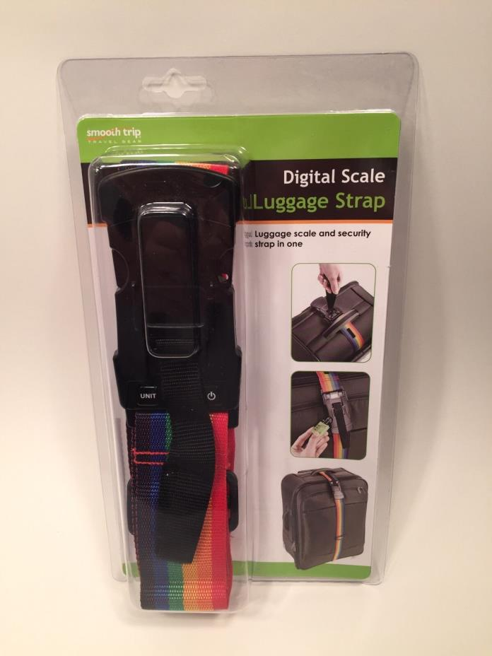 Smooth Trip Digital Scale Luggage Strap Rainbow ST-LS7008 New FREE SHIPPING!