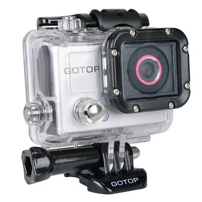 Gotop Silver Edition Full HD 1080p Sports Action Waterproof Mountable Camera w/1