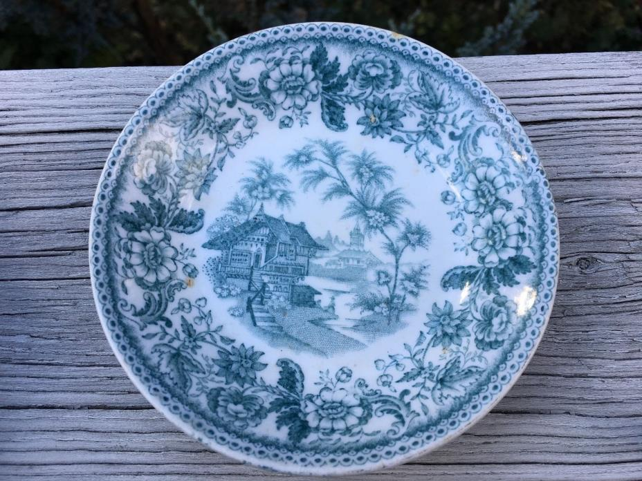 F. Winkle & Co ~ Antique ~  Bowl / Dish ~ England ~ 'Agra' ~ Green ~ 1890-1910