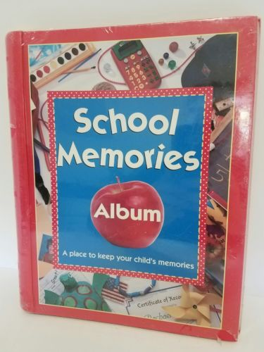School Memories Pocketful Album Karen Bledsoe PreSchool to Graduation Hardcover