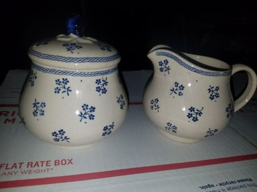 antique creamer and sugar cup made in england