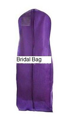 Purple Breathable Cloth Wedding Gown Dress Garment Bag