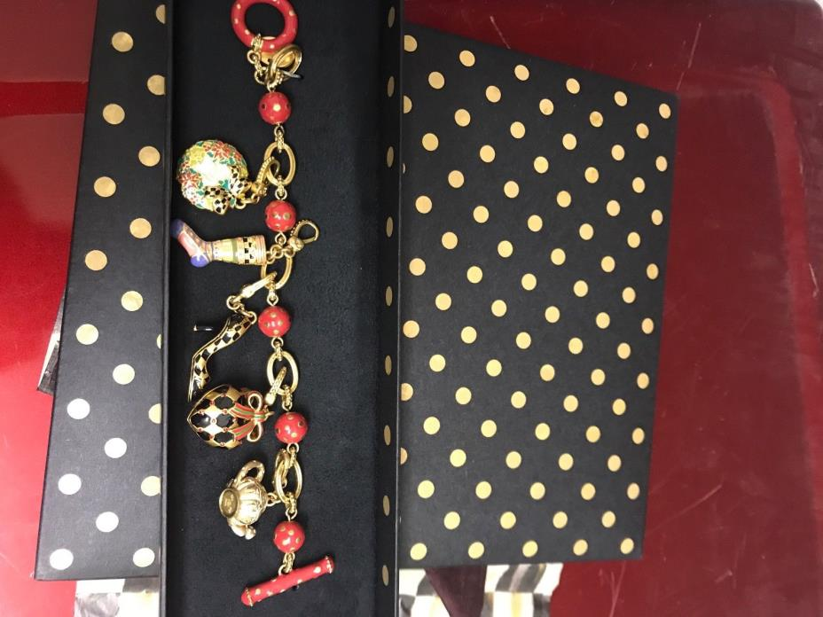 Mackenzie Childs bracelet with five charms