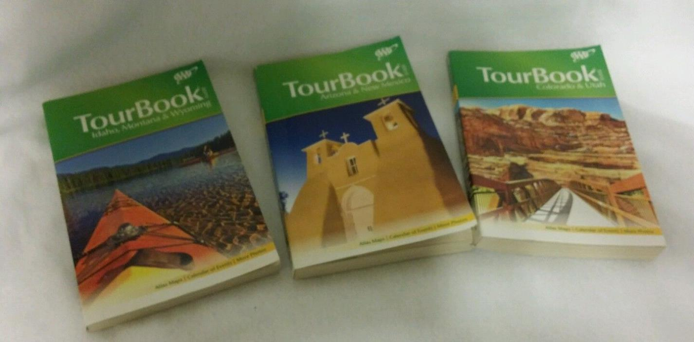 Lot of 3 AAA TourBook Guides AZ & NM CO & UT ID, MO & WY 2012 & 2013